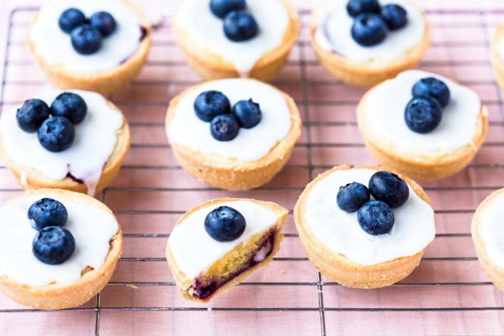 thermomix blueberry bakewell tarts