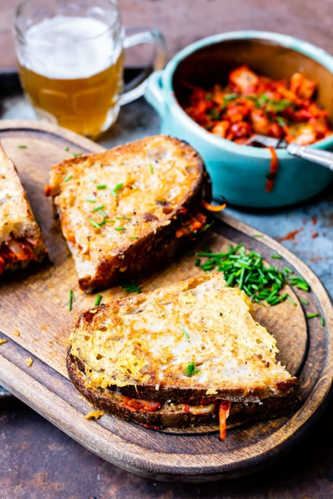 Thermomix Kimchi and Cheese Sourdough Toasties