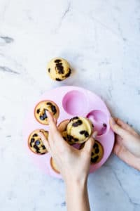 steamed chocolate chip muffins
