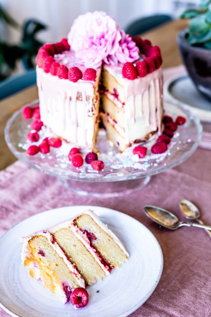 almond raspberry lemon cake