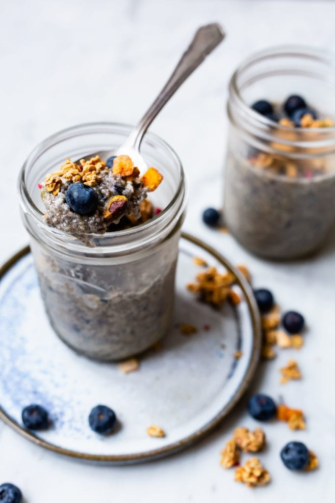 Blueberry Chia Puddings | Sophia's Kitchen